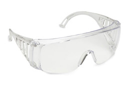 SAFETY GLASSES - CLEAR GREY GREEN